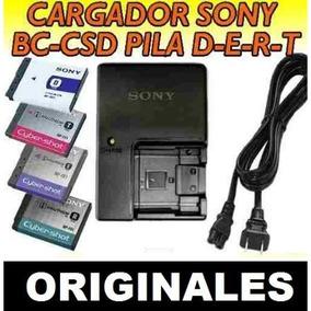 Cargador Sony Bc-csd P/ Baterias D T R E De Cam + 2 Baterias