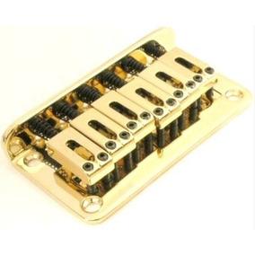 Ponte Fixa Para Guitarra Strato Stander Dourada Bn003