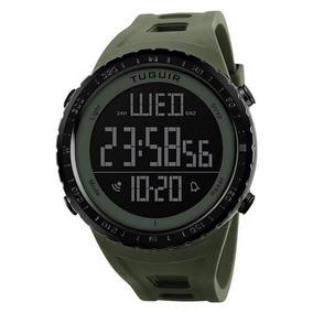 Relógio Masculino Tuguir Tg1246 Digital Verde Com Nf