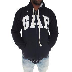 Blusas Moleton Masculina Gap Canguru Com Zíper Capuz Frio