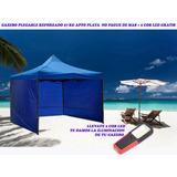 Gazebos Plegable Articulado 3x3 Paredes Playa + 2 Cob Led