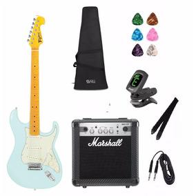 Kit 12 Itens Guitarra Tagima Tg530 Sg Marshall Mg10, Capa
