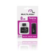 Pen Drive 3 Em 1 8gb Micro+sd +cartão Sd Kit C/ 10 Unidades