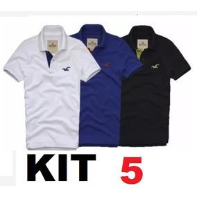 Kit 5 Camisa Polo Masculina* Frete Grátis* Atacado Revenda