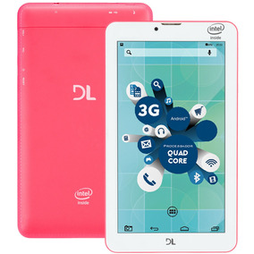Tablet Dl Socialphone Tx316bra - Atom X3, 8gb - Rosa Neon