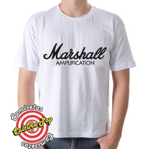Camiseta Instrumentos Musicais Marshall Amplification.