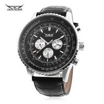 Reloj Caballero Jaragar F120561 Mecanico Automatico Negro