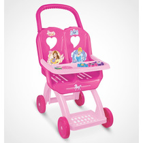Carro Para Boneca Duplo Princesas