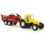 Kit Caminhão Trator Com Carreta 6 Animais Brinquedo