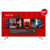 Smart Tv Tcl Televisor 43 4k Uhd 43p1usx Control Netflix