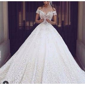 Vestido De Noiva Manga Curta Princesa
