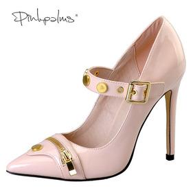 03a3fffc3 Sapato Salto Stiletto Metalico - Sapatos para Feminino Magenta no ...