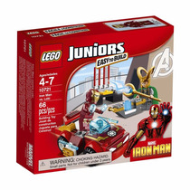 Lego Juniors 10721 Homem De Ferro Contra Loki 66 Peças