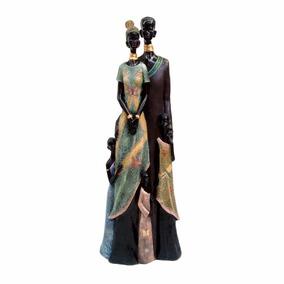 Africana Casal Gigante Boneca Em Resina Escultura, Grande