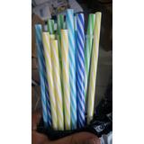 Pitillos En Plastico Duro Reutilizable X 10 Unidades