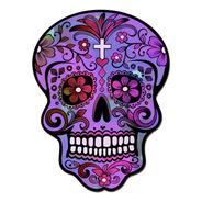 Cuadros Decorativos Calavera Mexicana Violeta 22x30cm