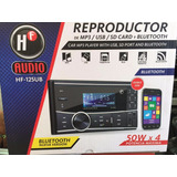 Autoestéreo Doble Din Hf Audio Hf-125ub Mp3 Bluetooth Usb