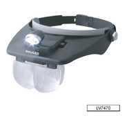Lupa Binocular Vincha  Galileo  Lv 7470  - 3 Led Muy Luminos