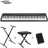 Piano Digital 88 Teclas Sensitivo + Soporte + Banqueta