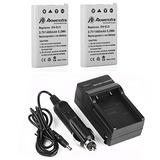 Powerextra Batería De Repuesto De 2 Paquetes Y Cargador P...