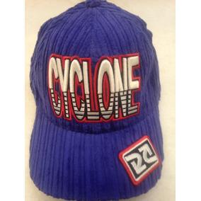 Boné Cyclone Veludo Original Ajuste Bordado Azul New York