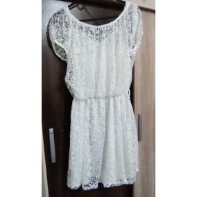 Vestido Tipo Renda Transparente Branco