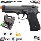 Airsoft Pistola Beretta M92 Kwc Spring 6mm + Case + Frete