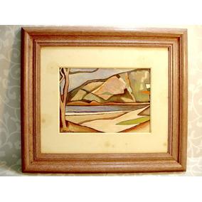 Obra Aldo Bonadei Original Óleo Sobre Cartão Datado 63