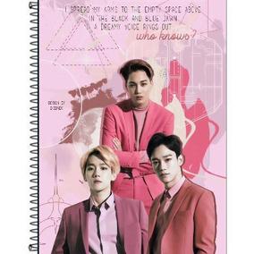 Caderno Personalizado Exo Kpop 1 Matéria