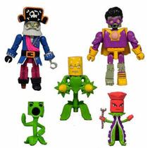 Set 5 Figuras Originales Plantas Vs Zombies Gw2 Minimates