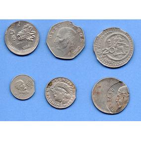 Monedas Antiguas Error Colección 6 Piezas Error 3
