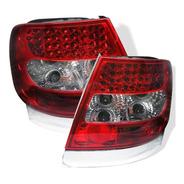 Lanterna Esportiva Led Audi A4 1994 A 2001 Cristal Red