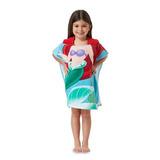 Disney Ariel A Pequena Sereia Com Capuz Toalha De Banho Ponc