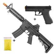 Rifle Airsoft M4a1 + Pistola Airsoft Vigor V307 + Esferas