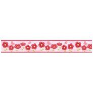 Faixa Decorativa - Quarto - 1m X 20cm - Flores
