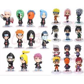 23 Figure Art Miniatura Naruto Sasuke Itachi Kakashi Gaara