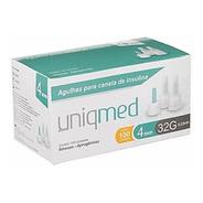 Agulha Para Caneta De Insulina 4mm 32g Com 100 Unid Uniqmed