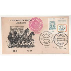 L95-méxico 2 Sobres Fdc Primera Estampilla Postal Mexicana