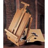 Caja Para Pintor De Madera C/atril + Paleta De Madera