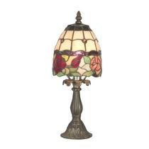 Dale Tiffany Ta Enid Lámpara De Mesa, Latón Antiguo Y La Pa