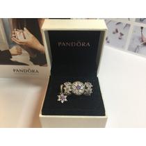 Charm Conj Flor Radiante 4 Peças Authentic 925 Pandora