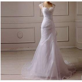 Mega Promoção Vestido De Noiva Sereia Cauda Longa