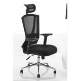 Cadeira Executiva Presidente Em Tela Seatwell Sw-9755 Preta