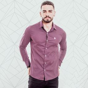 04c8224ec7 Camisa Social Slim Fit Masculina Premium Algodão   Poliéster