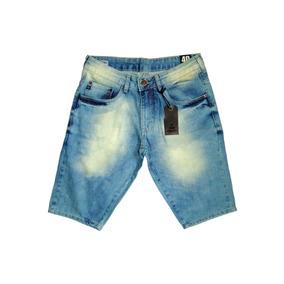 Bermuda Jeans Masculina Original Slim Fit Stretch Top Marcas