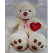 Ursinho Urso 120 Cm De Pelúcia Romantico Love Ted + Coração