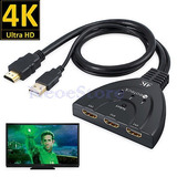 3 Puerto Hdmi 1.4 Switcher Hd 2160p 3d De Sky Hd Ps3 Xbox...