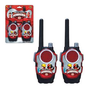Walk Talk Bombeiro Radio Comunicador Brinquedo Infantil