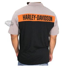 Harley Davidson Camisa Polo Original Garage Importada Eua