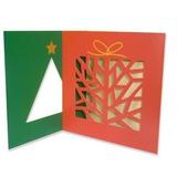 Cartão Teca Sazonal Natal - Duo Árvore